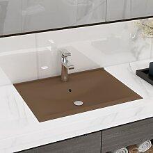 vidaXL Luxuriöses Waschbecken mit Hahnloch Matt
