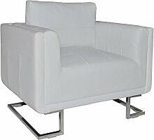 vidaXL Luxus Armsofa Sessel Armsessel Relaxsessel Ledersofa Clubsessel Lounge