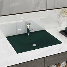 vidaXL Luxus-Waschbecken mit Hahnloch Matt