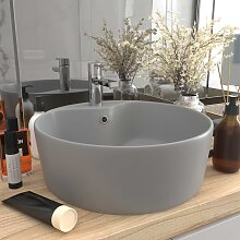 vidaXL Luxus-Waschbecken mit Überlauf Matt