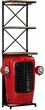 vidaXL Mangoholz Massiv Weinschrank Traktor 9