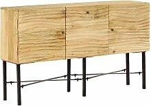 vidaXL Mangoholz Sideboard 118x30x70 cm