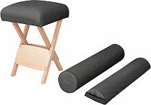 vidaXL Massage-Klapphocker 12 cm Dicker Sitz + 2