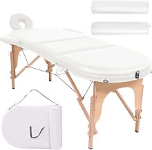 vidaXL Massageliege Tragbar mit 2 Lagerungskissen