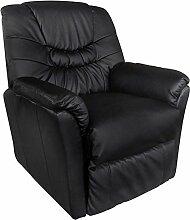 vidaXL Massagesessel Fernsehsessel Relaxsessel Massage+Heizung TV Sessel SCHWARZ NEU 5