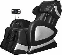 vidaXL Massagesessel mit Super Display Schwarz