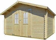 vidaXL Massivholz Gartenhaus 34mm 4x3m Blockhaus