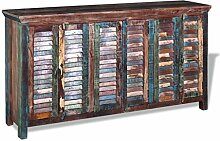 vidaXL Massivholz Sideboard Kommode Highboard TV Schrank Retro Vintage Recycel