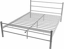 vidaXL Metall Bett Doppelbett Ehebett Bettgestell