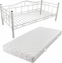 vidaXL Metallbett Einzelbett Tagesbett Metall Bett