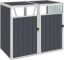vidaXL Mülltonnenbox für 2 Mülltonnen Anthrazit