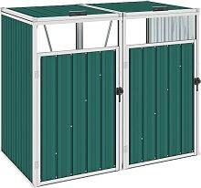 vidaXL Mülltonnenbox für 2 Mülltonnen Grün