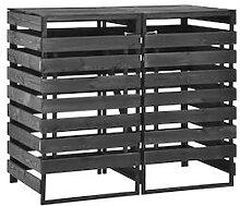 vidaXL Mülltonnenbox für 2 Tonnen 140x75x121 cm