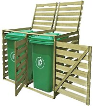 vidaXL Mülltonnenbox für 2 Tonnen 240 L