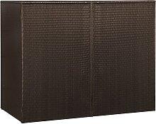 vidaXL Mülltonnenbox für 2 Tonnen Braun 153 x 78