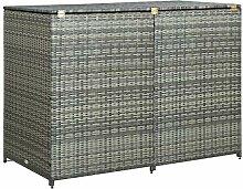 vidaXL Mülltonnenbox für 2 Tonnen Mülltonne