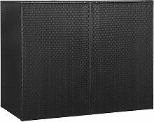 vidaXL Mülltonnenbox für 2 Tonnen Schwarz 153 x