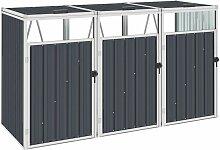 Vidaxl - Mülltonnenbox für 3 Mülltonnen