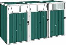 Vidaxl - Mülltonnenbox für 3 Mülltonnen Grün