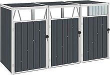 vidaXL Mülltonnenbox für 3 Mülltonnen
