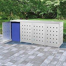 vidaXL Mülltonnenbox für 4 Tonnen Müllbox