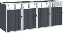 vidaXL Mülltonnenbox vidaXL Mülltonnenbox für 4