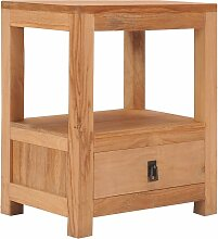 Vidaxl - Nachttisch 40 x 30 x 50 cm Teak Massivholz