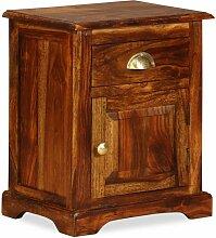 Vidaxl - Nachttisch 40x30x50cm Massivholz
