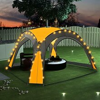 vidaXL Partyzelt mit LED und 4 Seitenwänden 3,6 x