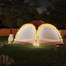 vidaXL Partyzelt mit LED und 4 Seitenwänden