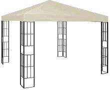 vidaXL Pavillon 3×3 m Creme