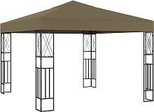 vidaXL Pavillon 3x3 m Taupe Stoff