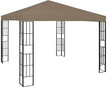 vidaXL Pavillon 3x3 m Taupe
