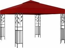 vidaXL Pavillon 3x3 m Weinrot