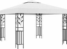 vidaXL Pavillon 3x3 m Weiß 180 g/m²
