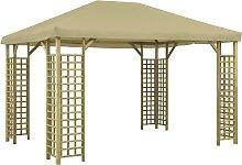 vidaXL Pavillon 4x3 m Beige