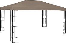 vidaXL Pavillon 4x3 m Taupe