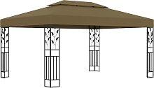 vidaXL Pavillon mit Doppeldach 3x4 m Taupe 180