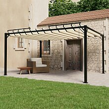 vidaXL Pavillon mit Lamellendach 3x4 m Creme Stoff