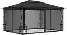 vidaXL Pavillon vidaXL Pavillon mit Vorhängen