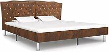vidaXL Polsterbett Doppelbett Bett Ehebett