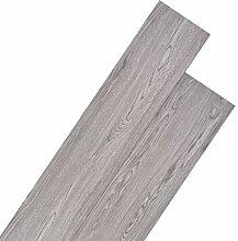 vidaXL PVC Laminat Dielen 5,26m² 2mm Dunkelgrau