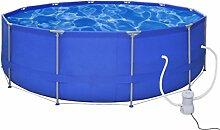 vidaXL Quick Up Pool Schwimmbecken Plantschbecken Schwimmbad 457cm Pumpe530gal/h