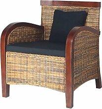 vidaXL Rattansessel Rattan Sessel Wohnzimmer Relaxsessel Loungesessel Geflechtsessel