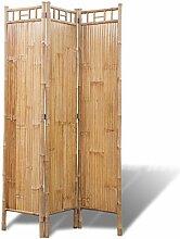 vidaXL Raumteiler 3-TLG. Bambus Paravent Trennwand