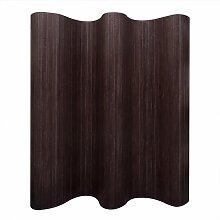vidaXL Raumteiler Bambus Dunkelbraun 250x165 cm