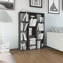 vidaXL Raumteiler/Bücherregal Grau 100×24×140