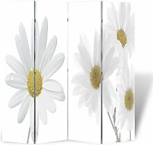 Vidaxl - Raumteiler Klappbar 160x170cm Blume