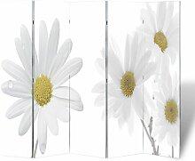 Vidaxl - Raumteiler Klappbar 200x170cm Blume