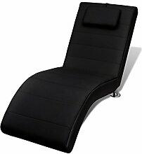 vidaXL Relaxliege Chaiselongue Liegesessel Lounge Liege Sessel schwarz inkl. Kissen